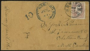 Sale Number 988, Lot Number 114, Flag-of-Truce Mail: Petersburg-Old Point ComfortGovernor's Island (Castle Williams), N.Y, Governor's Island (Castle Williams), N.Y