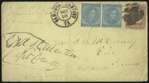 Sale Number 988, Lot Number 150, Flag-of-Truce Mail: Richmond-Old Point ComfortCamp Sorghum, Columbia S.C, Camp Sorghum, Columbia S.C