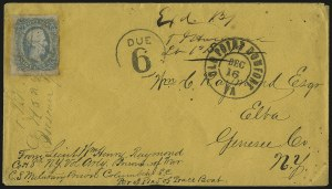 Sale Number 988, Lot Number 151, Flag-of-Truce Mail: Richmond-Old Point ComfortCamp Sorghum, Columbia S.C, Camp Sorghum, Columbia S.C