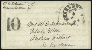 "Sale Number 988, Lot Number 223, Flag-of-Truce Mail: Pocotaligo-Port RoyalMorris Island, ""Immortal 600"", S.C, Morris Island, ""Immortal 600"", S.C"