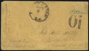 "Sale Number 988, Lot Number 224, Flag-of-Truce Mail: Pocotaligo-Port RoyalMorris Island, ""Immortal 600"", S.C, Morris Island, ""Immortal 600"", S.C"