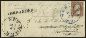 Sale Number 988, Lot Number 23, Suspension of U.S. Post Office Across-the-Lines RoutesNew Bern N.C. May 21 (1861), New Bern N.C. May 21 (1861)