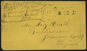Sale Number 988, Lot Number 235, Flag-of-Truce Mail: Shreveport-New OrleansJohnson's Island, Sandusky O, Johnson's Island, Sandusky O