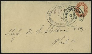 Sale Number 988, Lot Number 25, Suspension of U.S. Post Office Across-the-Lines RoutesDead Letter Office, Confederate States of America, Aug. 23, 1861, Dead Letter Office, Confederate States of America, Aug. 23, 1861