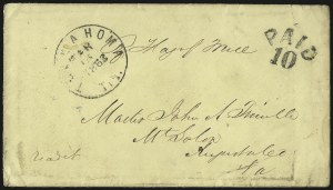 Sale Number 988, Lot Number 253, Flag-of-Truce Mail: Provost Marshal ExaminersTullahoma Tenn, Tullahoma Tenn