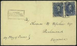 Sale Number 988, Lot Number 254, Flag-of-Truce Mail: Provost Marshal ExaminersNorfolk Va. Provost Marshal, Norfolk Va. Provost Marshal