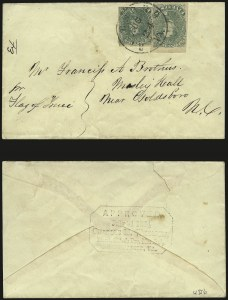 Sale Number 988, Lot Number 255, Flag-of-Truce Mail: Provost Marshal ExaminersNorfolk Va. Provost Marshal, Norfolk Va. Provost Marshal