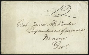 Sale Number 988, Lot Number 308, Blockade-Run Mail: Inbound - The Burton CorrespondenceLiverpool to Macon Ga. via Nassau and Wilmington, Liverpool to Macon Ga. via Nassau and Wilmington