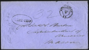 Sale Number 988, Lot Number 310, Blockade-Run Mail: Inbound - The Burton CorrespondenceCharleston S.C. Dec. 2 (1864), Charleston S.C. Dec. 2 (1864)