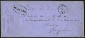 Sale Number 988, Lot Number 311, Blockade-Run Mail: Inbound - The Burton CorrespondenceCharleston S.C. Dec. 3 (1864), Charleston S.C. Dec. 3 (1864)