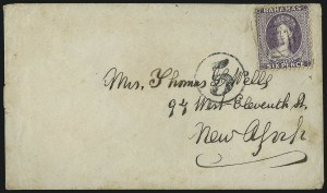 Sale Number 988, Lot Number 345, Blockade-Run Mail: Outbound - The Wells CorrespondenceCharleston S.C. to New York via Wilmington and Nassau, Charleston S.C. to New York via Wilmington and Nassau