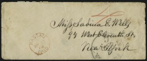 Sale Number 988, Lot Number 347, Blockade-Run Mail: Outbound - The Wells CorrespondenceCharleston S.C. to New York via Nassau, Charleston S.C. to New York via Nassau
