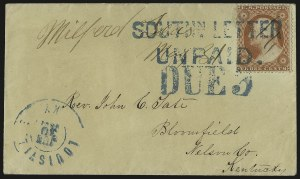 Sale Number 988, Lot Number 35, Southern Letter Unpaid MailSOUTHN. LETTER UNPAID, SOUTHN. LETTER UNPAID