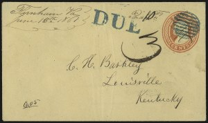 "Sale Number 988, Lot Number 37, Southern Letter Unpaid Mail""Farnham Va. June 13th 1861"", ""Farnham Va. June 13th 1861"""