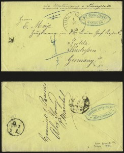 Sale Number 988, Lot Number 388, Trans-Rio Grande Mail: The Moye Correspondence-Texas to GermanyFort Brown Tex. to Fulda, Germany, Fort Brown Tex. to Fulda, Germany
