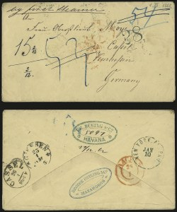 Sale Number 988, Lot Number 389, Trans-Rio Grande Mail: The Moye Correspondence-Texas to GermanyFort Brown Tex. to Kassel, Germany, Fort Brown Tex. to Kassel, Germany