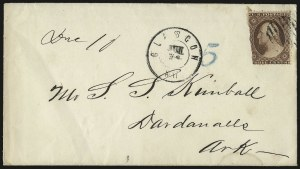"Sale Number 988, Lot Number 46, Mail Between C.S.A. and U.S. Post OfficesGlasgow Ky. Jun. 24(?)"" (1861), Glasgow Ky. Jun. 24(?)"" (1861)"