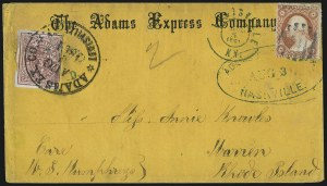 Sale Number 988, Lot Number 59, Across-the-Lines Private Express Mail: Adams ExpressNashville Tenn., 5c Carmine (61X2), Nashville Tenn., 5c Carmine (61X2)