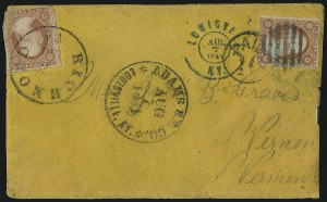 Sale Number 988, Lot Number 90, Flag-of-Truce Mail: Adams Express P.O.W. MailAdams Ex. Co. * Louisville, Ky. * Aug. 7, 1861, Adams Ex. Co. * Louisville, Ky. * Aug. 7, 1861