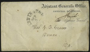 Sale Number 988, Lot Number 91, Flag-of-Truce Mail: Adams Express P.O.W. MailPrivate Graves, Prisoner of War, Private Graves, Prisoner of War