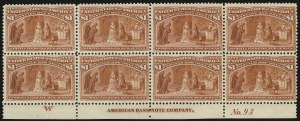 Sale Number 989, Lot Number 163, Columbian Issue$1.00 Columbian (241), $1.00 Columbian (241)