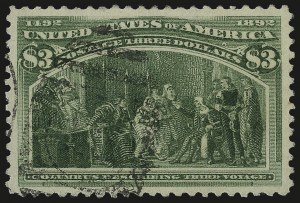 Sale Number 989, Lot Number 165, Columbian Issue$3.00 Columbian (243), $3.00 Columbian (243)