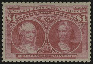 Sale Number 989, Lot Number 167, Columbian Issue$4.00 Columbian (244), $4.00 Columbian (244)