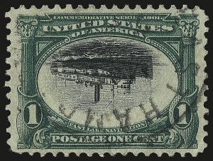 Sale Number 989, Lot Number 174, Trans-Mississippi, Pan-American Issues 1c Pan-American, Center Inverted (294a), 1c Pan-American, Center Inverted (294a)
