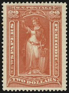 Sale Number 989, Lot Number 208, Air Post and Back-of-Book Issues $2.00 Scarlet, 1895 Issue (PR108), $2.00 Scarlet, 1895 Issue (PR108)