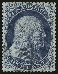 Sale Number 989, Lot Number 68, 1857-60 Issue 1c Blue, Ty. II (20), 1c Blue, Ty. II (20)