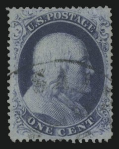Sale Number 989, Lot Number 69, 1857-60 Issue 1c Blue, Ty. III (21), 1c Blue, Ty. III (21)