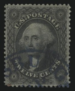 Sale Number 989, Lot Number 74, 1857-60 Issue 12c Black, Plate 1 (36), 12c Black, Plate 1 (36)