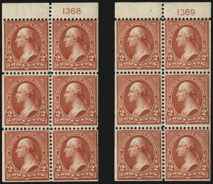 Sale Number 991, Lot Number 1017, 1900 Booklet Issue2c Red, Ty. IV, Booklet Panes of Six, Vertical Wmk. (279Bk), 2c Red, Ty. IV, Booklet Panes of Six, Vertical Wmk. (279Bk)