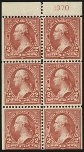 Sale Number 991, Lot Number 1018, 1900 Booklet Issue2c Red, Ty. IV, Booklet Panes of Six, Vertical Wmk. (279Bk), 2c Red, Ty. IV, Booklet Panes of Six, Vertical Wmk. (279Bk)