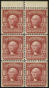 Sale Number 991, Lot Number 1083, 1903 Shield Issue (Scott 319g)2c Carmine, Ty. I, Booklet Panes of Six (319g), 2c Carmine, Ty. I, Booklet Panes of Six (319g)