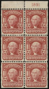 Sale Number 991, Lot Number 1084, 1903 Shield Issue (Scott 319g)2c Carmine, Ty. I, Booklet Panes of Six (319g), 2c Carmine, Ty. I, Booklet Panes of Six (319g)