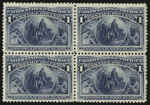 Sale Number 992, Lot Number 2284, 1893 Columbian Issue (1c thru 8c, Scott 230-236)1c Columbian (230), 1c Columbian (230)
