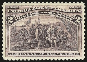 Sale Number 992, Lot Number 2285, 1893 Columbian Issue (1c thru 8c, Scott 230-236)2c Columbian (231), 2c Columbian (231)