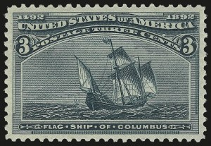 Sale Number 992, Lot Number 2286, 1893 Columbian Issue (1c thru 8c, Scott 230-236)3c Columbian (232), 3c Columbian (232)