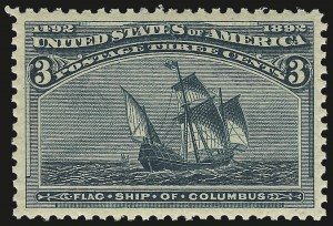 Sale Number 992, Lot Number 2287, 1893 Columbian Issue (1c thru 8c, Scott 230-236)3c Columbian (232), 3c Columbian (232)