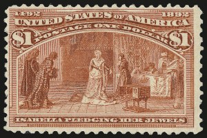 Sale Number 992, Lot Number 2311, 1893 Columbian Issue (10c thru $1.00, Scott 237-241)$1.00 Columbian (241), $1.00 Columbian (241)