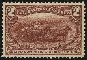 Sale Number 992, Lot Number 2372, 1898 Trans-Mississippi Issue (Scott 285-293)2c Trans-Mississippi (286), 2c Trans-Mississippi (286)