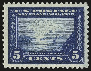 Sale Number 992, Lot Number 2459, 1913-15 Panama-Pacific Issue (Scott 397-404)5c Panama-Pacific (399), 5c Panama-Pacific (399)