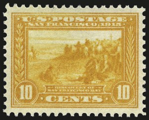 Sale Number 992, Lot Number 2460, 1913-15 Panama-Pacific Issue (Scott 397-404)10c Orange Yellow, Panama-Pacific (400), 10c Orange Yellow, Panama-Pacific (400)