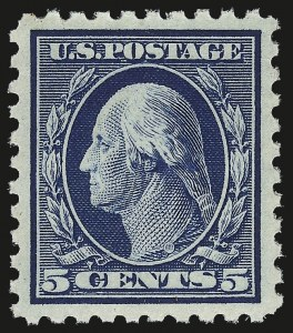 Sale Number 992, Lot Number 2474, 1913-15 Washington-Franklin Issues (Scott 424-460)5c Blue (428), 5c Blue (428)