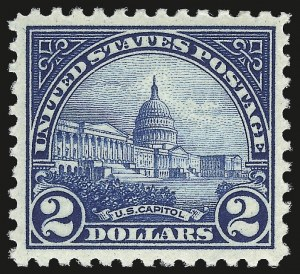 Sale Number 992, Lot Number 2536, 1922-29 Issues (Scott 551-573)$2.00 Deep Blue (572), $2.00 Deep Blue (572)