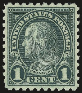 Sale Number 992, Lot Number 2542, 1922-29 and Later Issues (Scott 574 onwards)1c Green, Perf 10 (581), 1c Green, Perf 10 (581)