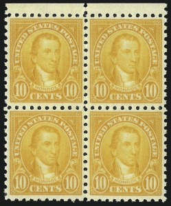 Sale Number 992, Lot Number 2547, 1922-29 and Later Issues (Scott 574 onwards)10c Orange, Perf 10 (591), 10c Orange, Perf 10 (591)