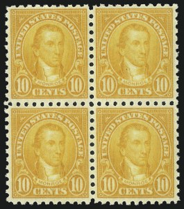 Sale Number 992, Lot Number 2548, 1922-29 and Later Issues (Scott 574 onwards)10c Orange, Perf 10 (591), 10c Orange, Perf 10 (591)