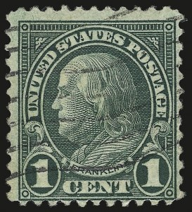 Sale Number 992, Lot Number 2549, 1922-29 and Later Issues (Scott 574 onwards)1c Green, Rotary, Perf 11 (594), 1c Green, Rotary, Perf 11 (594)